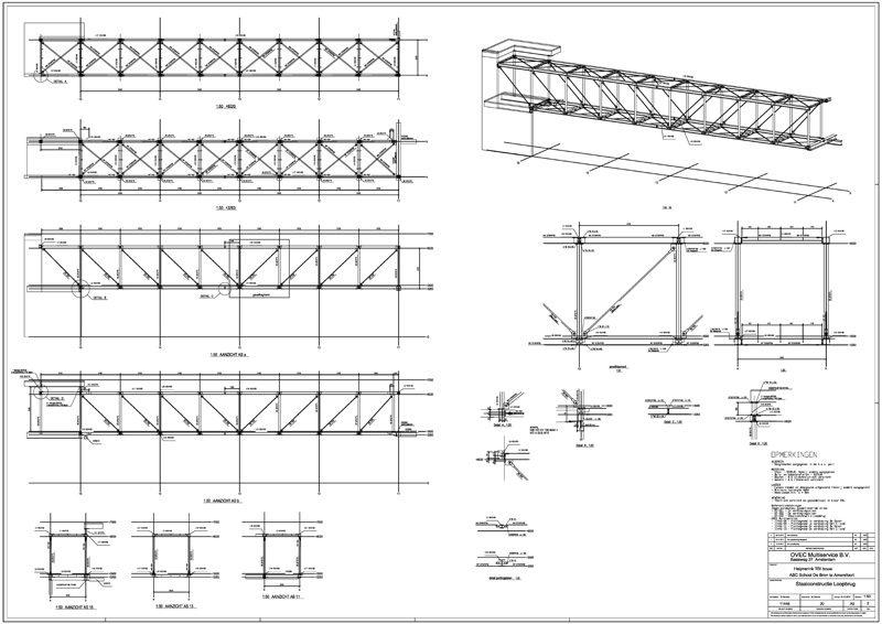 ABC School De-Bron Staalkonstruktie Loopbrug