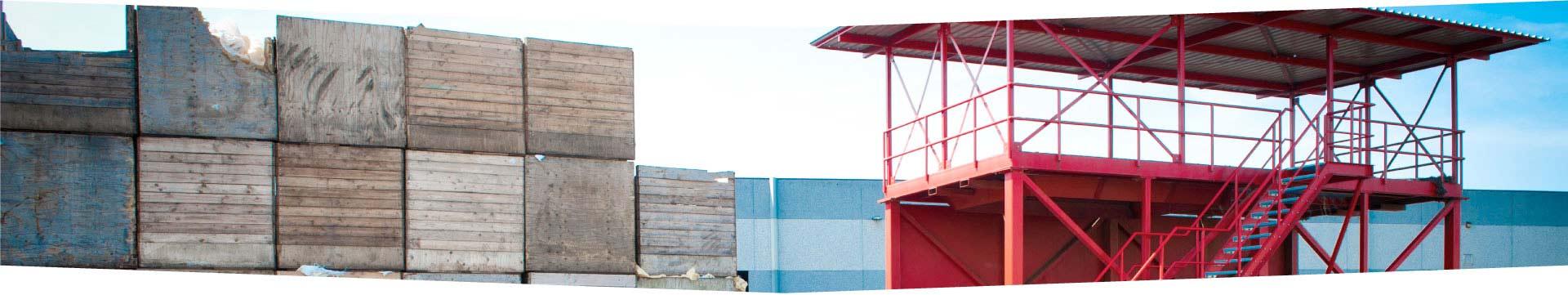 Staalconstructie bordes Steinweg Handelsveem door Ovec Multiservice