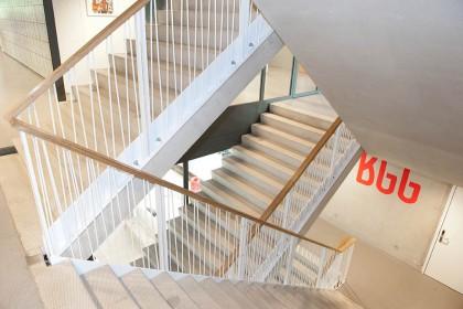 Maatwerk trap | St. Nicolaas Lyceum Amsterdam | Ovec Multiservice